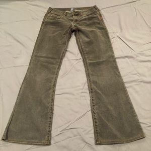 Silver Corduroy pant. Brownish grey colored